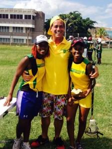 Peter Dante with members of the Female Lacrosse Team