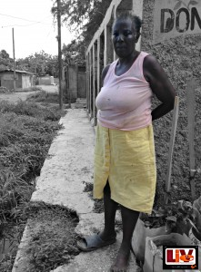 A resident of the White Wing Community in Kingston Jamaica